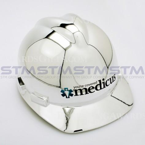 安全帽 銀色